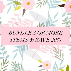 Bundle 3 or more to save 20%
